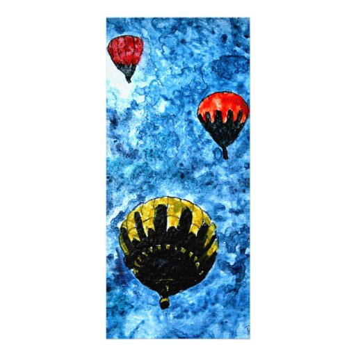 hot air balloons watercolor painting illustration rack card design
