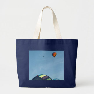 Hot air balloons, with parachute tote bags