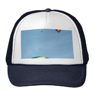 Hot air balloons, with parachute cap