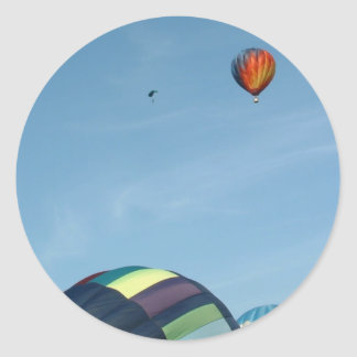 Hot air balloons, with parachute stickers