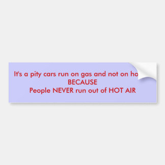Hot Air Car Bumper Sticker