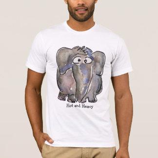 Hot and Heavy Cartoon Elephant T Shirt