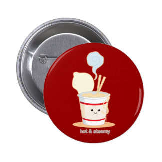 Hot and Steamy 6 Cm Round Badge