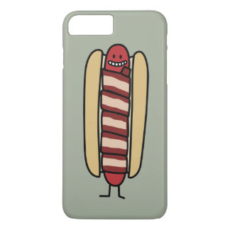 Hot Bacon Wrapped Hotdog iPhone 7 Plus Case