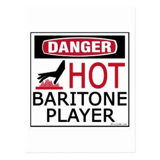 Hot Baritone Player Postcard