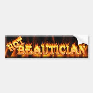 hot beautician bumper sticker