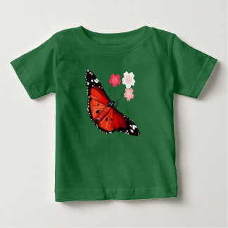 HOT BIG BRIGHT BUTTERFLY and Cherry Blossoms Baby T-Shirt