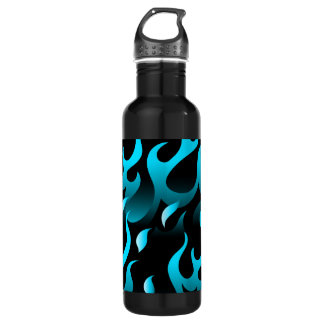 Hot blue flames 710 ml water bottle