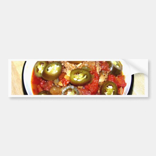 Hot Bowl of Chili on a Cold Night Bumper Sticker