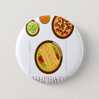 Hot Breakfast Month - Appreciation Day 6 Cm Round Badge