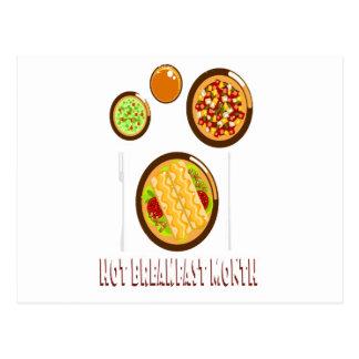 Hot Breakfast Month - Appreciation Day Postcard