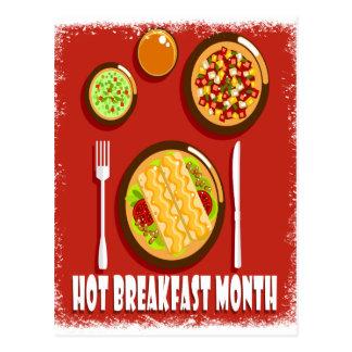Hot Breakfast Month February - Appreciation Day Postcard