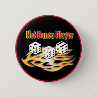 hot bunco player 6 cm round badge