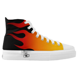 Hot Burning Flames High Tops