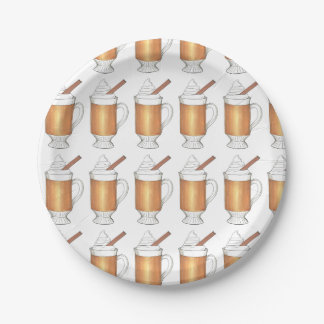 Hot Buttered Rum Holiday Drink Christmas Plates