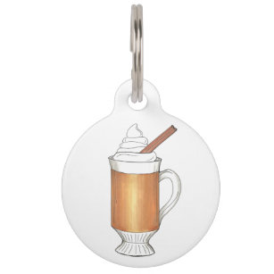 Hot Buttered Rum Whipped Cream Cinnamon Stick Pet Tag