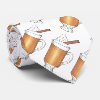Hot Buttered Rum Winter Christmas Holiday Tie