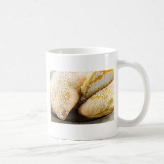 Hot cakes with cheese stuffing coffee mug