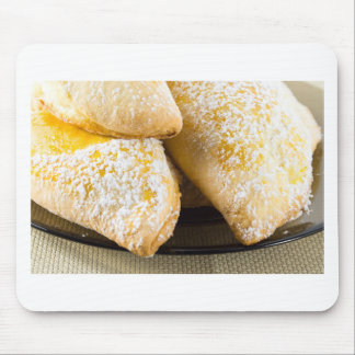 Hot cakes with sweet filling, sprinkled mouse pad