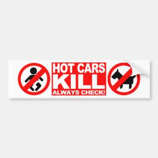 Hot Cars Kill - Always Check Bumper Sticker