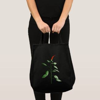 Hot Chili Pepper Plant Botanical Drawing Tote Bag