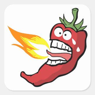 Hot Chili Pepper Square Sticker