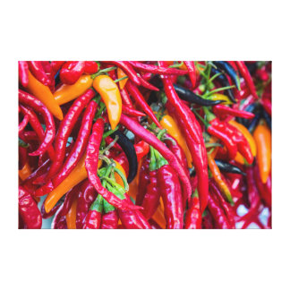 Hot Chili Peppers At Farmers Market In Madison Gallery Wrapped Canvas
