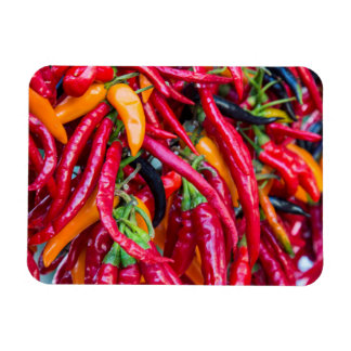 Hot Chili Peppers At Farmers Market In Madison Rectangular Photo Magnet