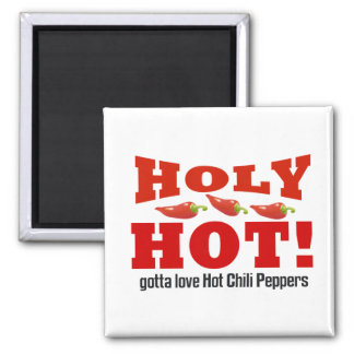hot chili peppers square magnet