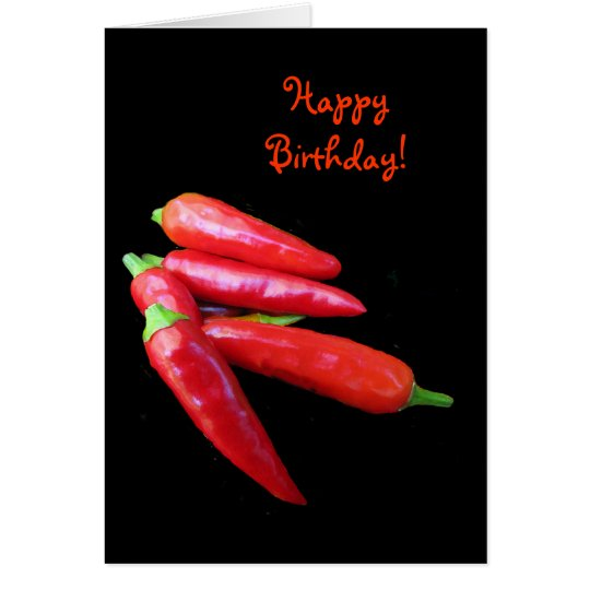 Hot Chilli Peppers Birthday Card
