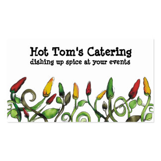 hot chilli peppers chef catering business cards