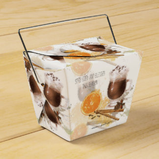 Hot Chocolate Cinnamon Orange Season Greetings Favour Box