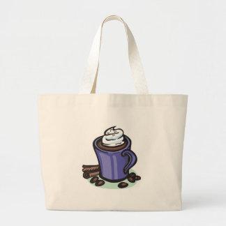 hot chocolate cocoa jumbo tote bag