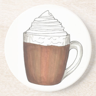 Hot Chocolate Cocoa Warm Winter Holiday Drink Coaster