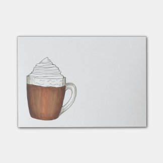 Hot Chocolate Cocoa Whipped Cream Holiday Post-Its Post-it Notes