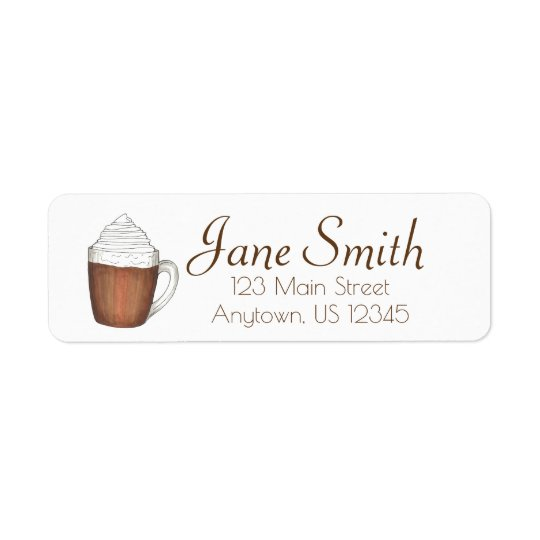 Hot Chocolate Cocoa Winter Holiday Address Labels