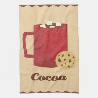 Hot chocolate illustration tea towel