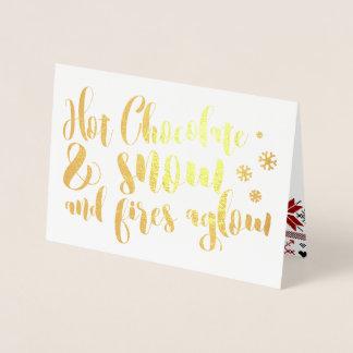 Hot Chocolate & Snow Rhyme Design Foil Card