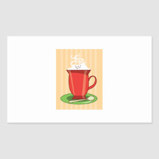 Hot Chocolate Rectangle Stickers