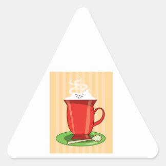 Hot Chocolate Triangle Stickers