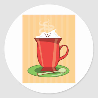 Hot Chocolate Round Sticker