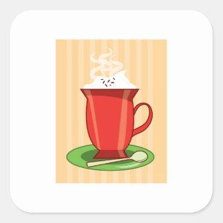 Hot Chocolate Square Sticker