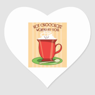 Hot Chocolate Warms My So Heart Stickers