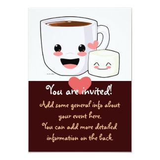 Hot Cocoa and Marshmallow Invitation