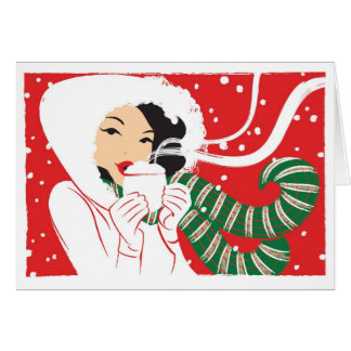 Hot Cocoa notecard Greeting Cards