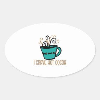 Hot Cocoa Oval Sticker
