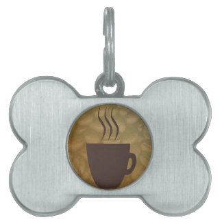 Hot Coffee Background Pet Tag