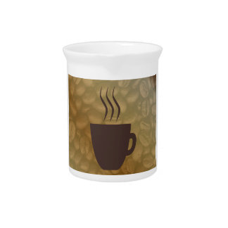 Hot Coffee Background Pitcher