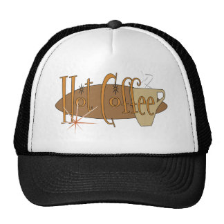 hot coffee trucker hat