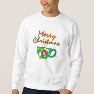 Hot Coffee Cup w/ Merry Christmas Shirt Men Women